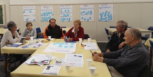 Community planning team, Maree Roy, Pam Colenso, John Hunter, Jackie Buckley, Shane Atkinson, Rick Geisler.