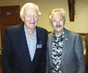 Rotary President Griff Page and Paul Harris Fellow Clive Paton
